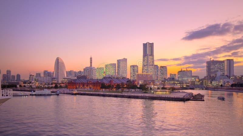 Horizonte del puerto de Tokio Japón Yokohama imágenes de archivo libres de regalías