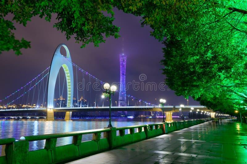 Horizonte del río de Guangzhou China imagen de archivo libre de regalías