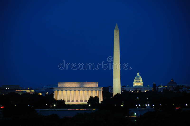 Horizonte del Washington DC foto de archivo