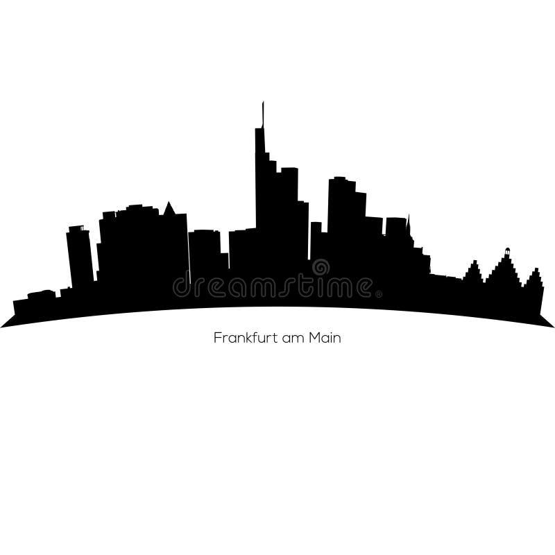 Horizonte detallado de Francfort del vector Frankfurt-am-Main stock de ilustración