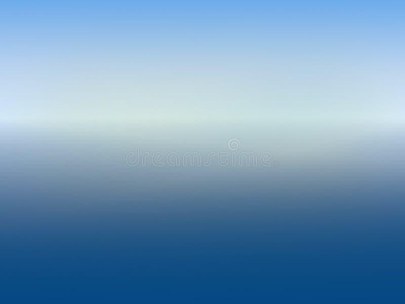 Horizonte do fundo nos azuis com uma faixa central clara imagem de stock royalty free
