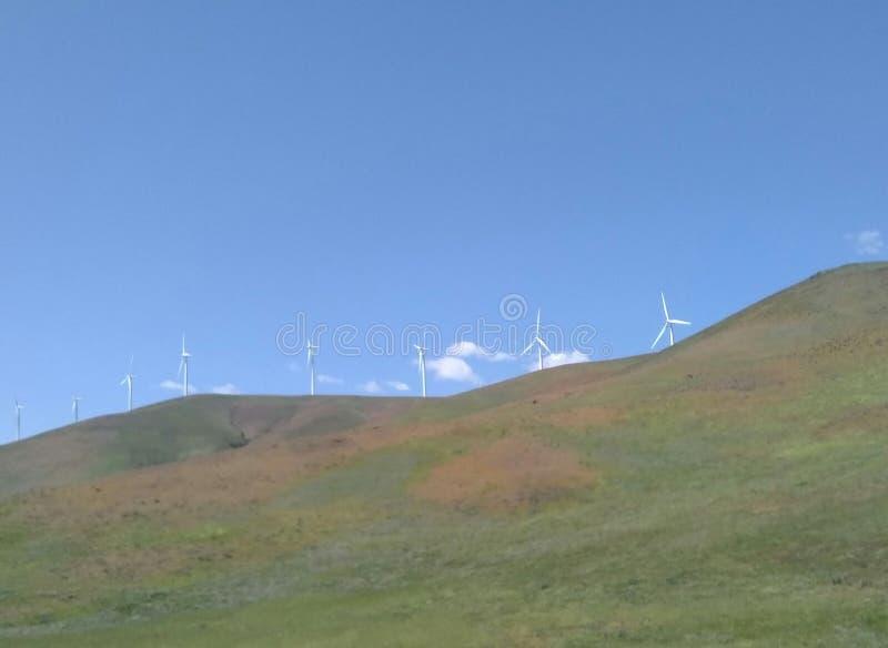 Horizonte do moinho de vento fotos de stock royalty free