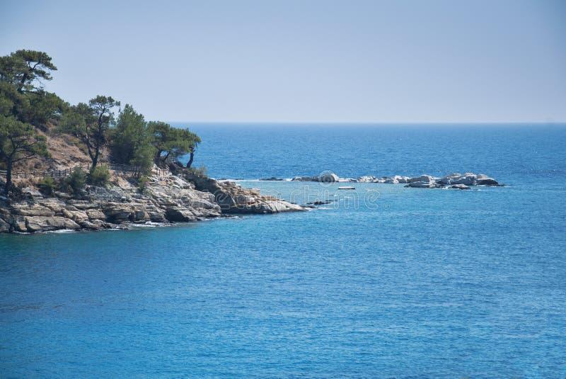 Horizonte en el mar Mediterráneo 1 imagenes de archivo