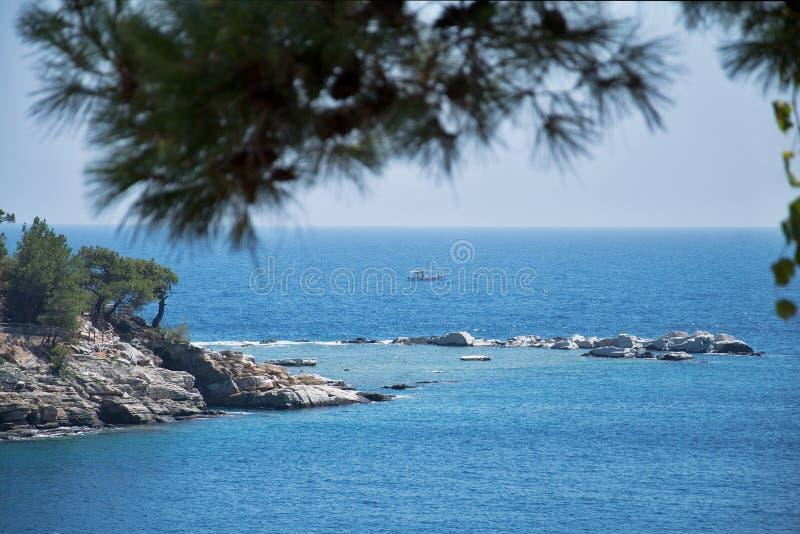 Horizonte en el mar Mediterráneo 2 imagen de archivo libre de regalías