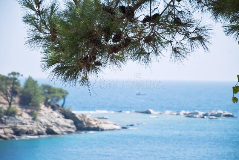 Horizonte en el mar Mediterráneo 3 imagen de archivo libre de regalías