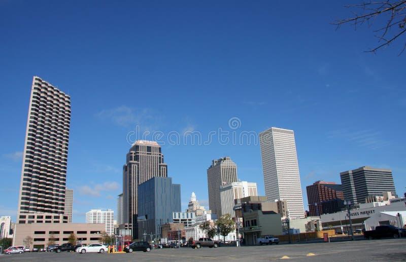 Horizonte en New Orleans imagenes de archivo