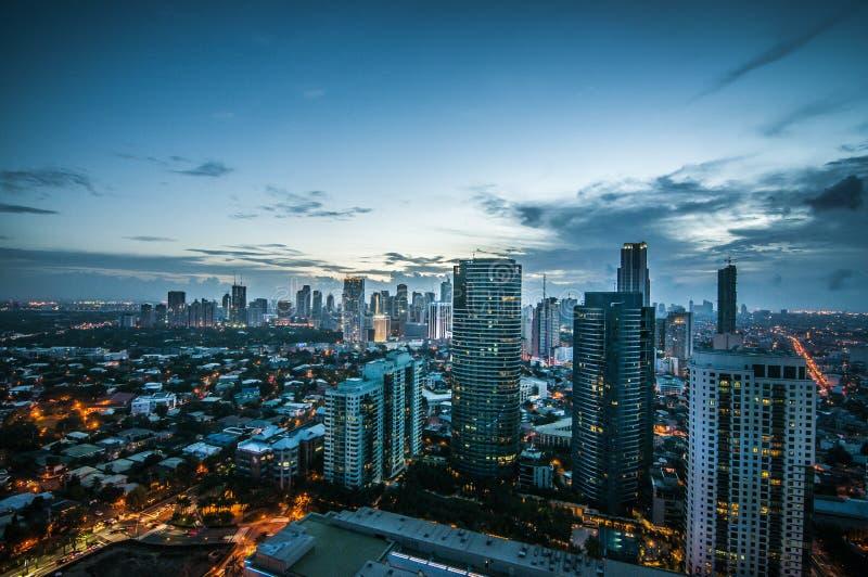 Horizonte Filipinas de Makati fotografía de archivo