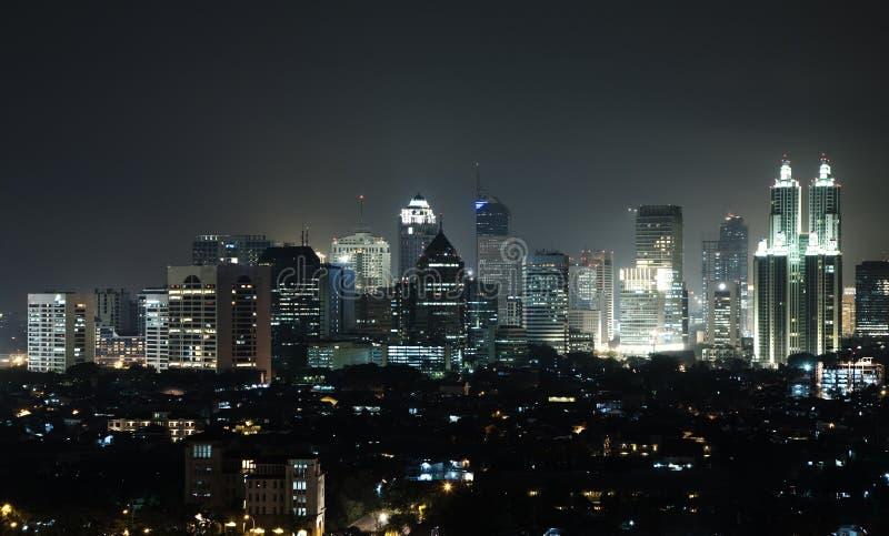 Horizonte Jakarta fotografía de archivo libre de regalías
