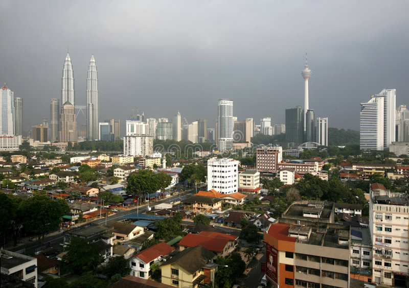 Horizonte Kuala Lumpur foto de archivo