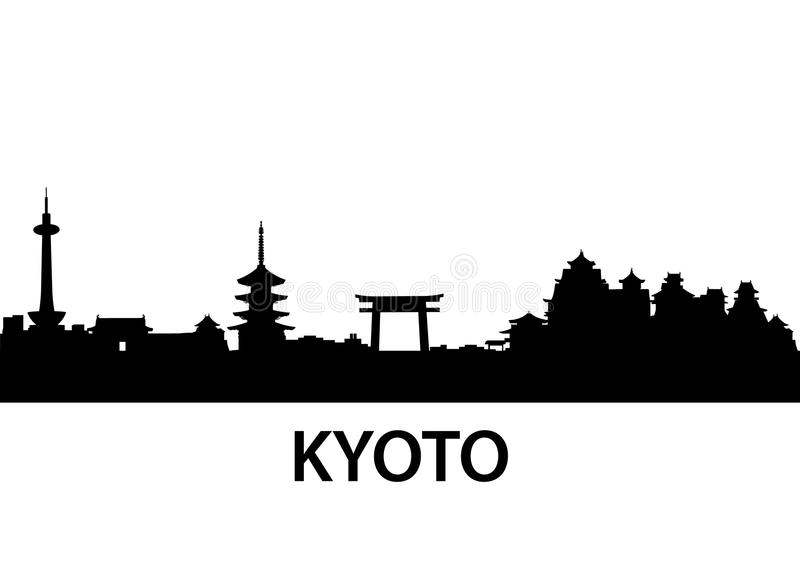 Horizonte Kyoto ilustración del vector