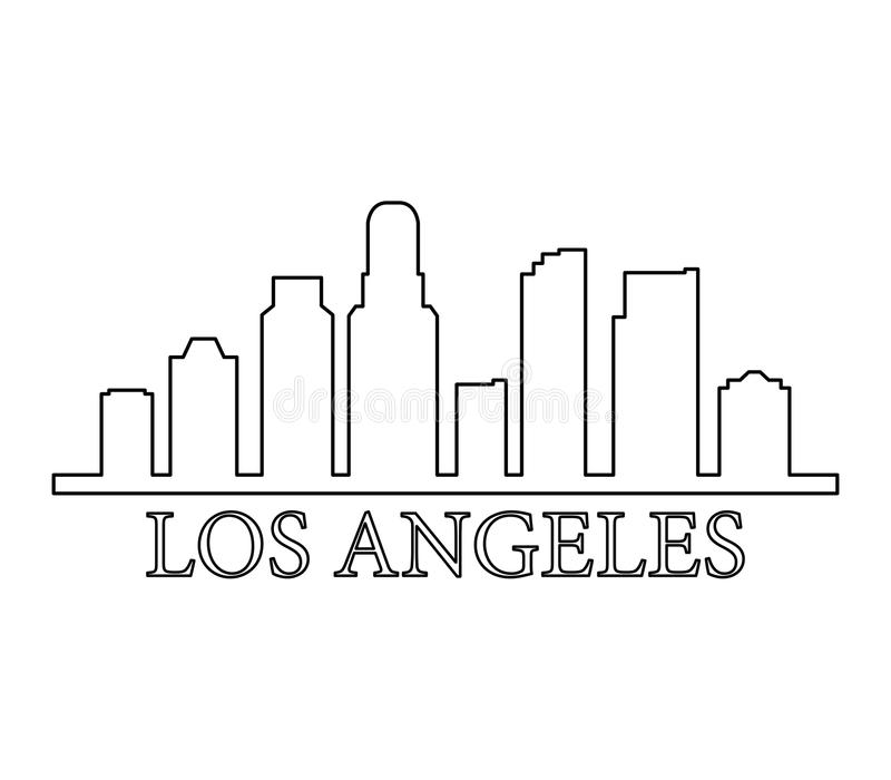 Horizonte Los Ángeles ilustración del vector