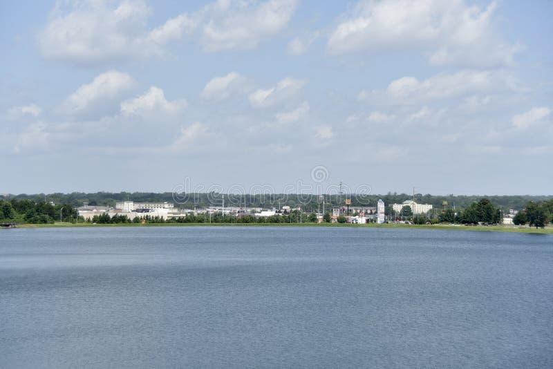 Horizonte meridiano de Mississippi fotos de archivo