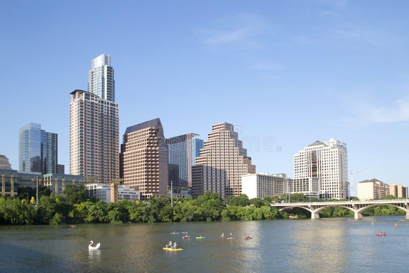 Horizonte moderno de Austin de la ciudad imagen de archivo libre de regalías