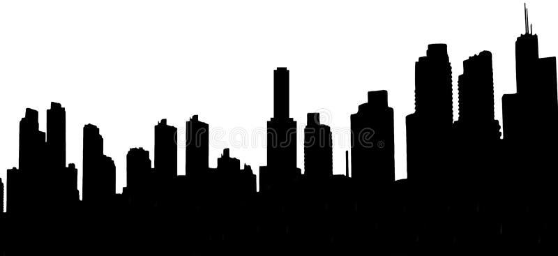 Horizonte moderno de la ciudad. libre illustration
