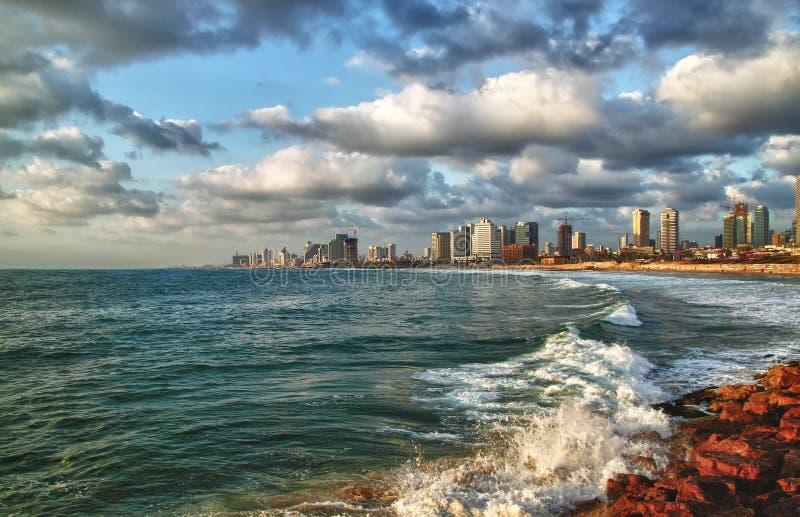 Horizonte moderno Israel de Tel Aviv foto de archivo libre de regalías