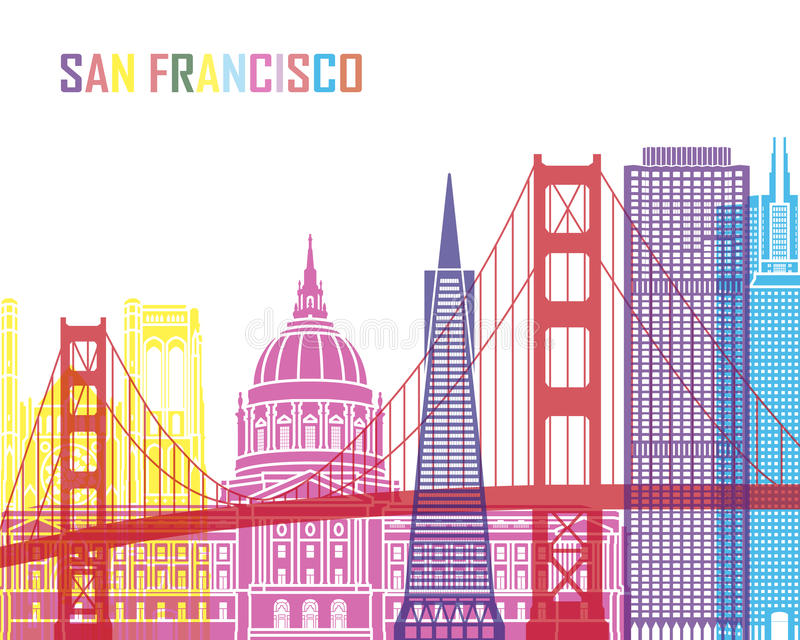 Horizonte pop_V2 de San Francisco libre illustration