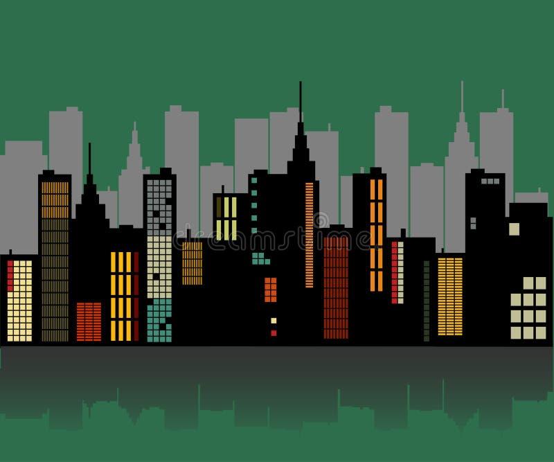 Horizonte retro de la ciudad libre illustration