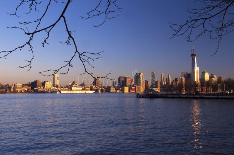 Horizonte soleado de Nueva York foto de archivo