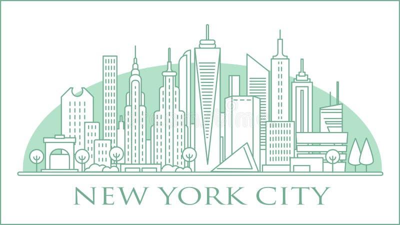 horizonte urbano de Nova Iorque foto de stock royalty free