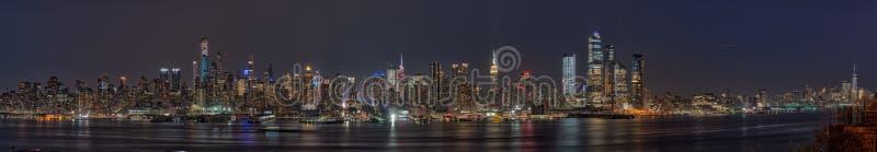 Horizonte Weehawken de Nueva York de la visión panorámica imagen de archivo