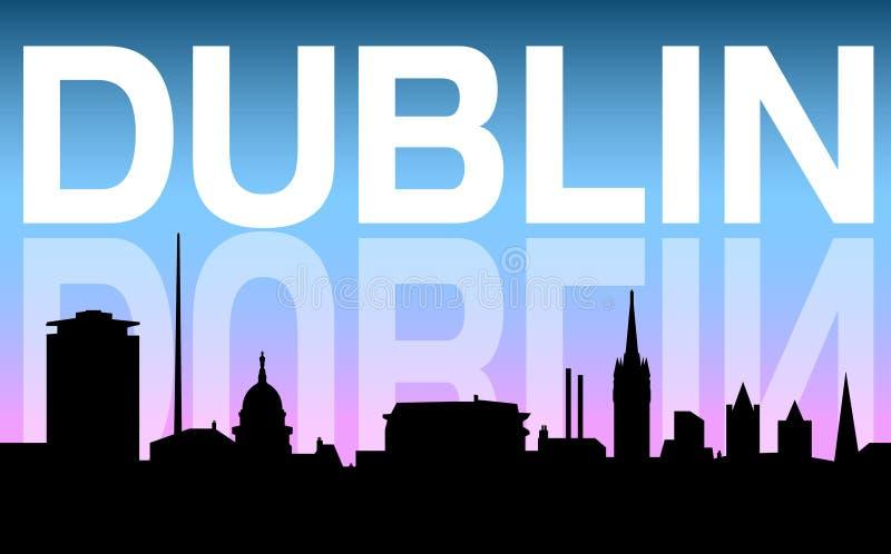 Horizonte y fondo de la ciudad de Dublín libre illustration