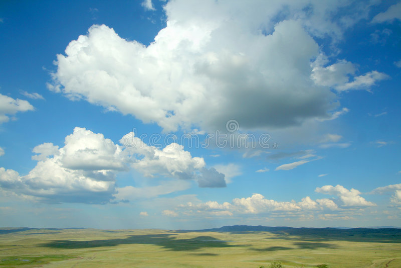 Horizonte y nubes imágenes de archivo libres de regalías