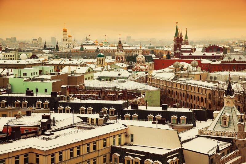 Horizonte y vistas de la ciudad de Moscú fotos de archivo libres de regalías