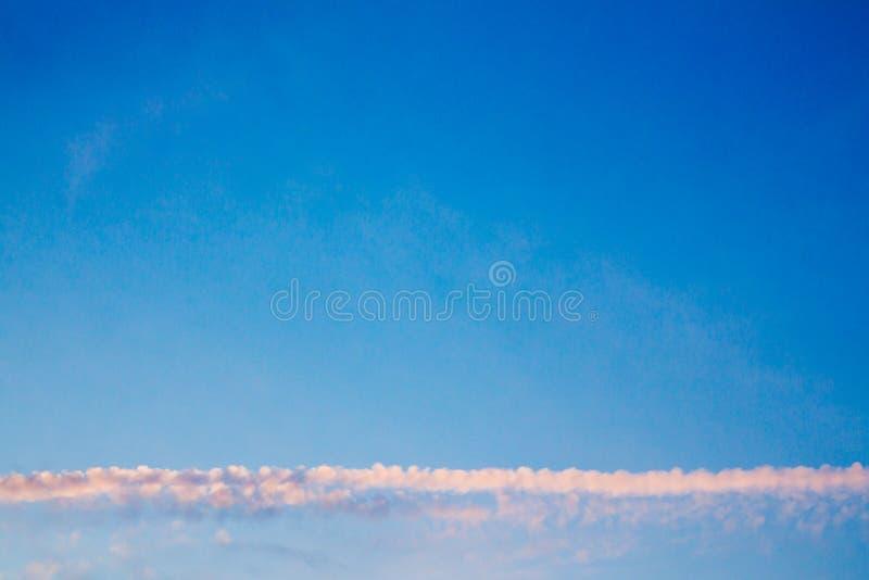 Horizonwolk in Hemel royalty-vrije stock foto's