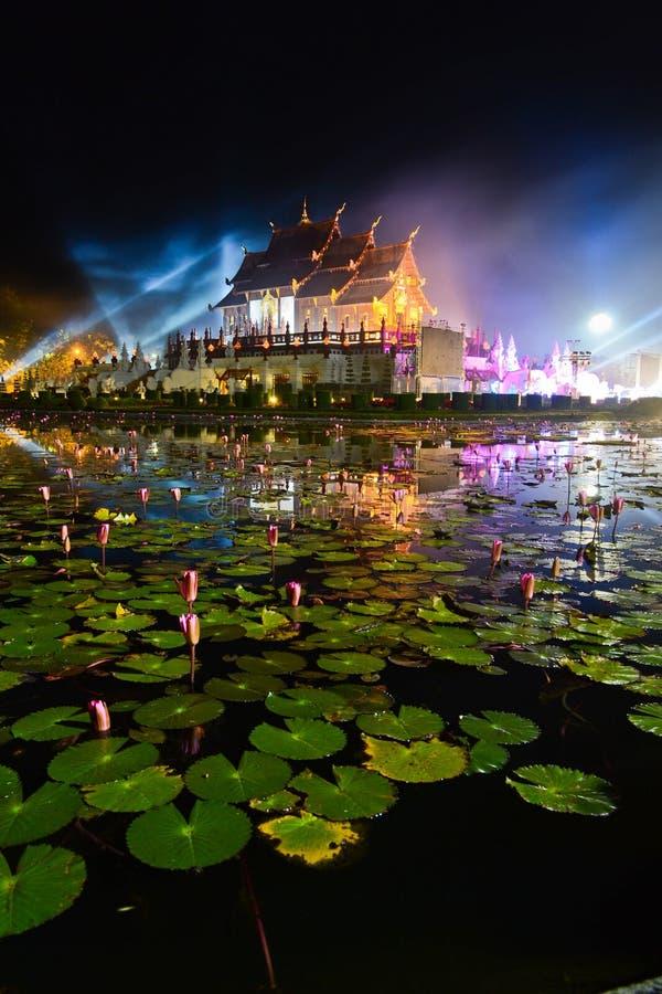 Horkumluang beautiful gold castle of chiangmai thailand royalty free stock photography