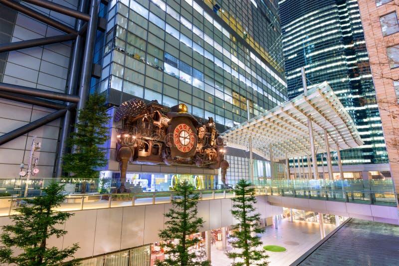 Horloge à Tokyo images libres de droits