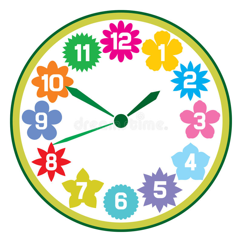 Horloge illustration stock