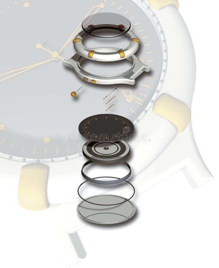 Horloge stock illustratie