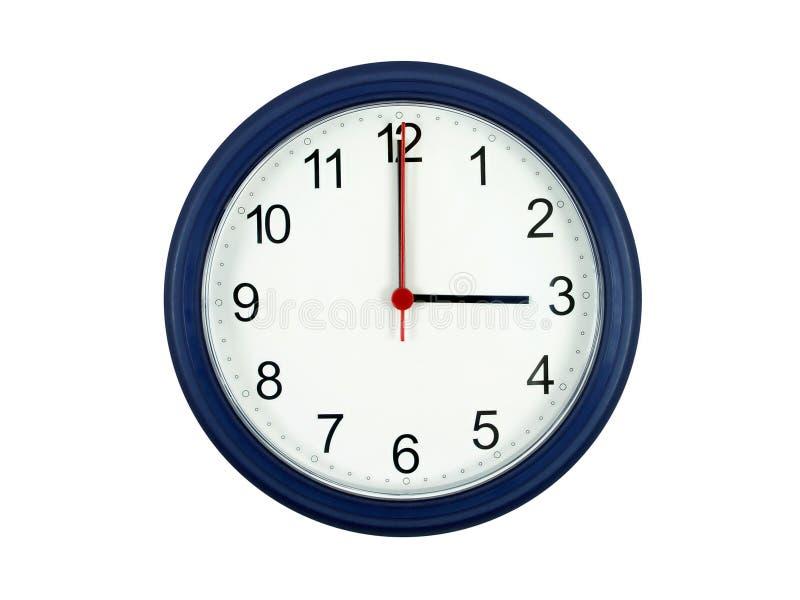 Horloge affichant 3 heures photographie stock libre de droits