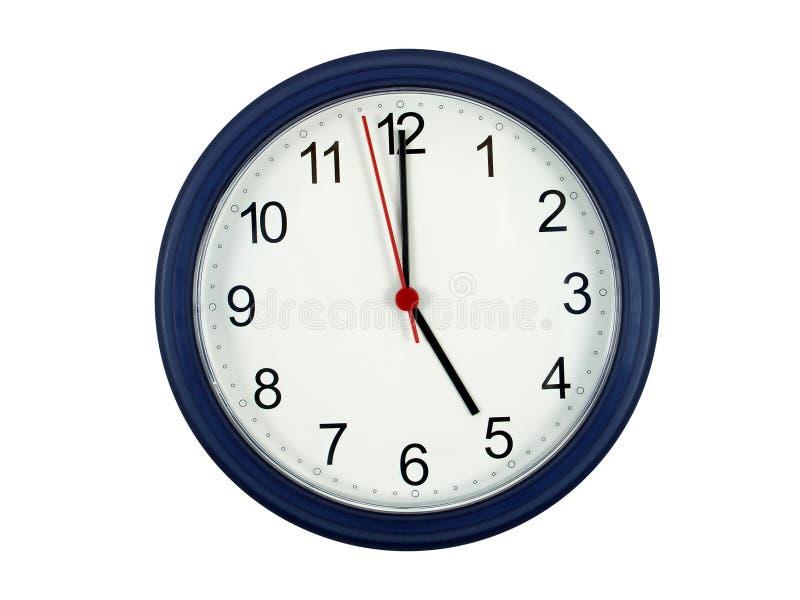 Horloge affichant 5 heures photos libres de droits