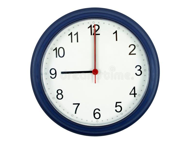 Horloge affichant 9 heures photo libre de droits
