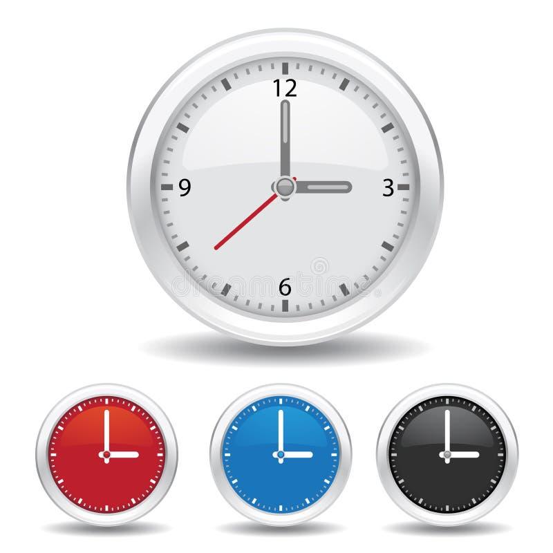 Horloge analogique illustration de vecteur