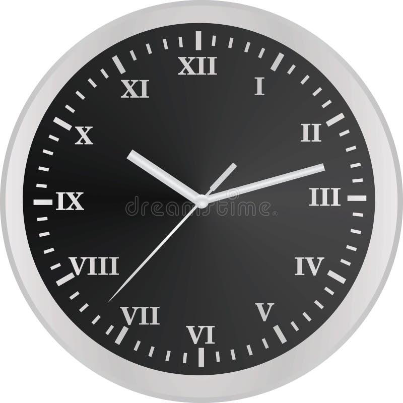 Horloge analogique Numéros romains illustration stock