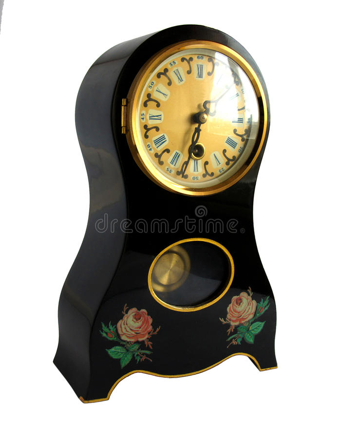 Horloge antique de carillon de mantel photos libres de droits