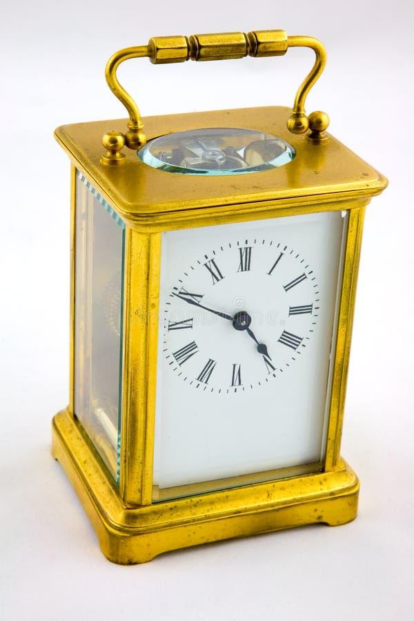 Horloge antique de chariot image stock