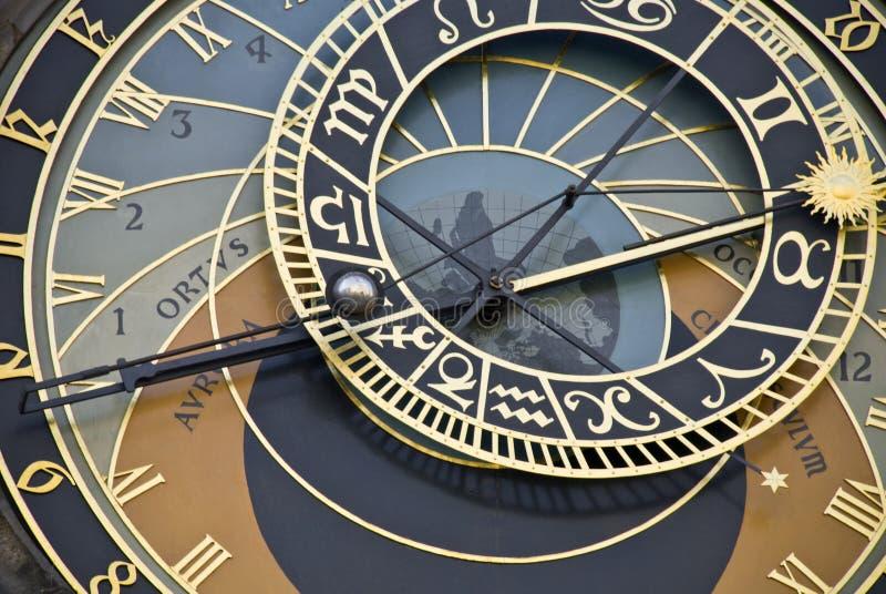 horloge antique Prague photographie stock