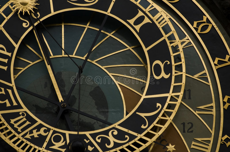 Horloge astrologique à Prague photographie stock
