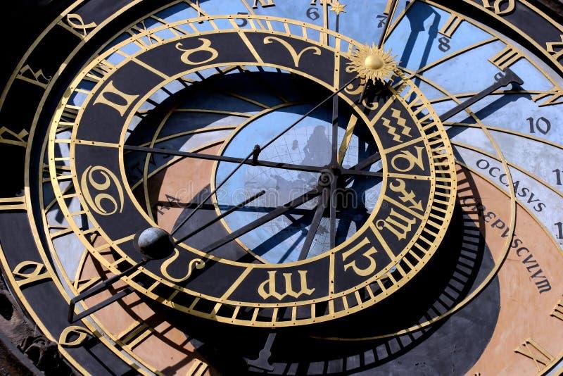 Horloge astrologique photo stock