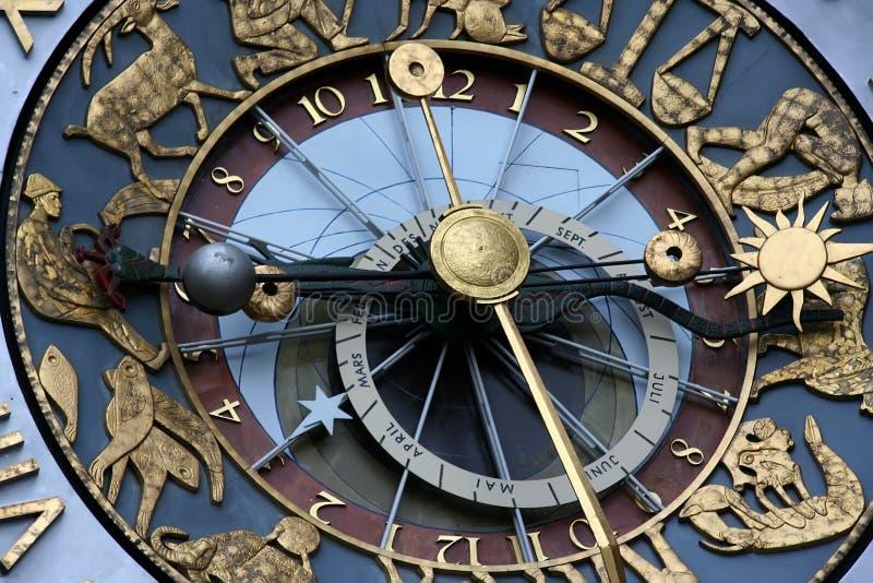 Horloge astrologique image stock