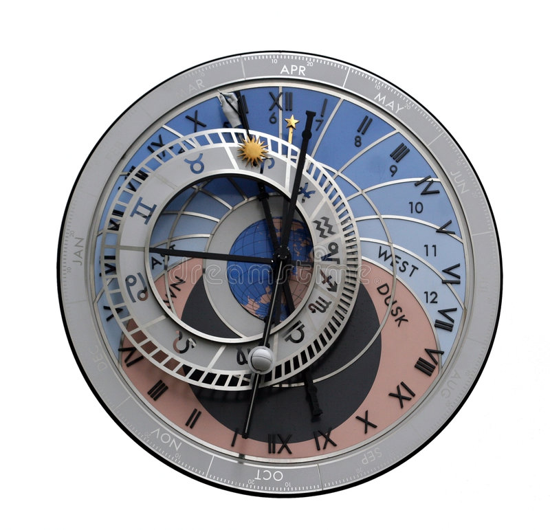 Horloge astrologique photo stock