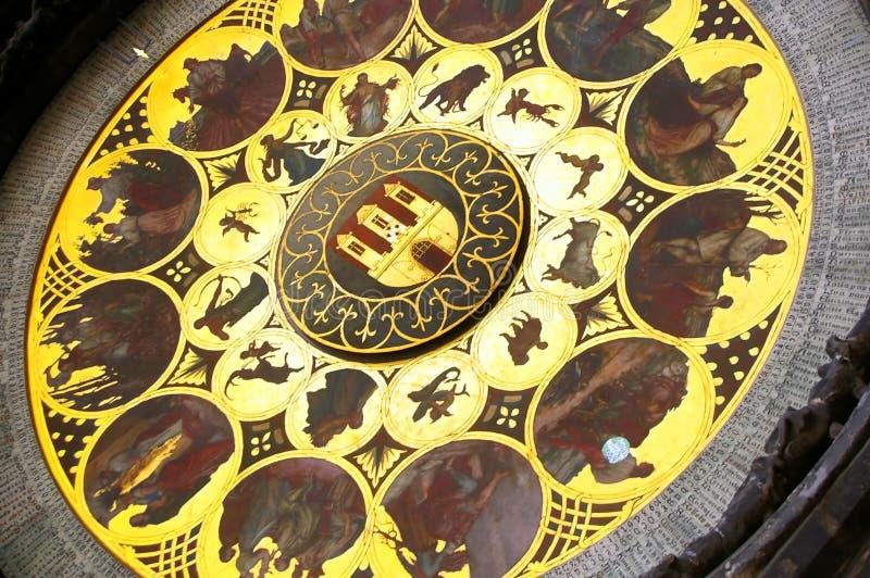Horloge astrologique Prague image libre de droits