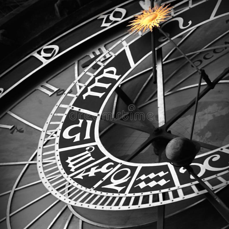 Horloge astrologique Prague images libres de droits
