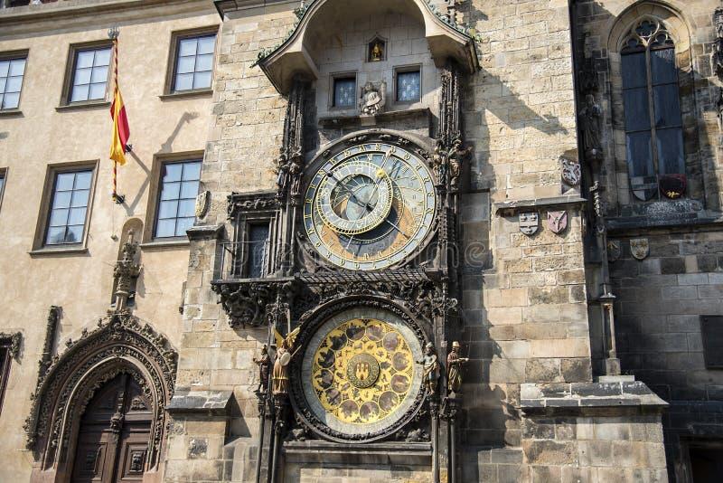 Horloge astronomique à Prague, République Tchèque photos stock