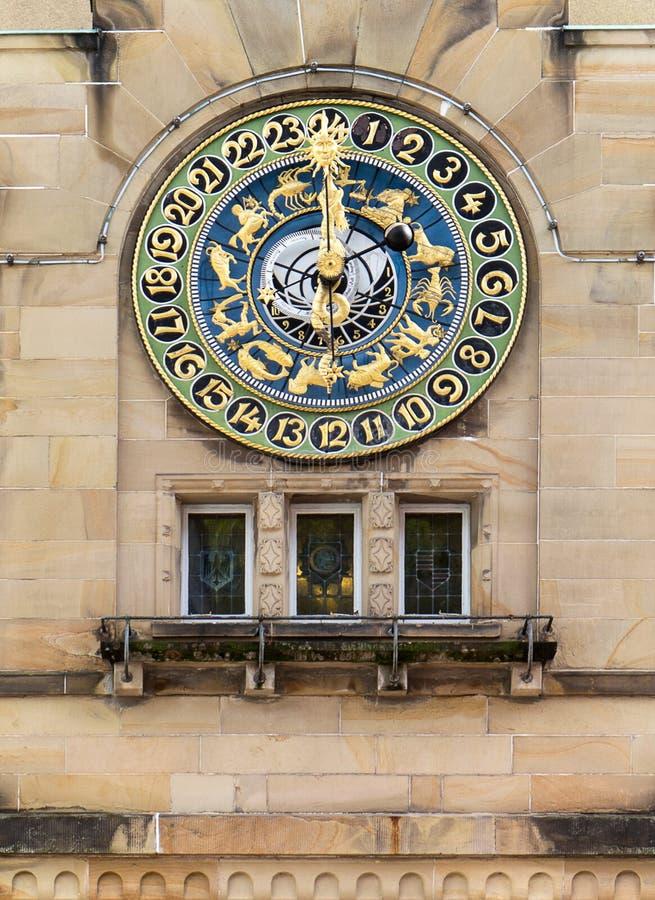 Horloge astronomique dans Schramberg photos stock