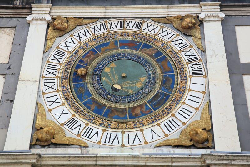 Horloge astronomique de Brescia images stock