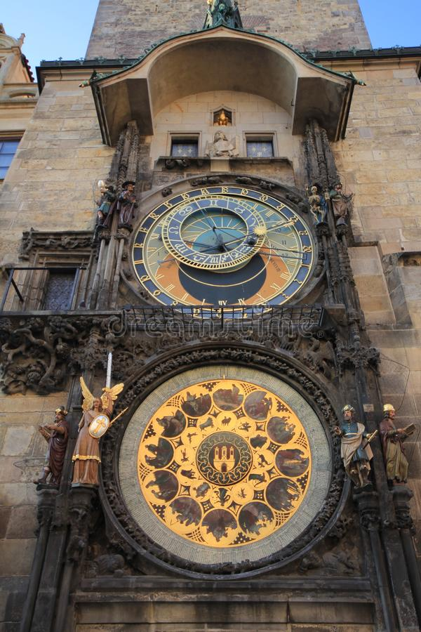 Horloge astronomique de Prague image stock